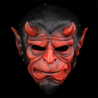 100% Top Grade Resin Hellboy Movie Hood Mask Terror Ball Devil Masks for Halloween Cosply Costume Collection Free Shipping