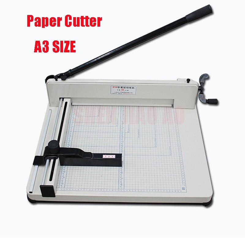 Desktop Cortador De Papel Guilhotina 858-A3 tamanho Máquina de Corte De papel largura máxima 4 44 milímetros Máquina De Corte De Papel corte de espessura CM