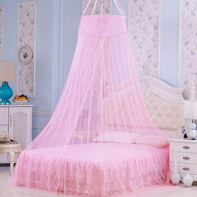 2017 New Romantic Mosquito Nets Curtain Bed Canopy Circular Palace Princess Tent Single-door Net & 2017 New Romantic Mosquito Nets Curtain Bed Canopy Circular Palace ...