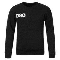 2018 Brand Fashion Calvn Pull DSQ Thicken T Shirts 100 High Quality Black Long Sleeve Hip