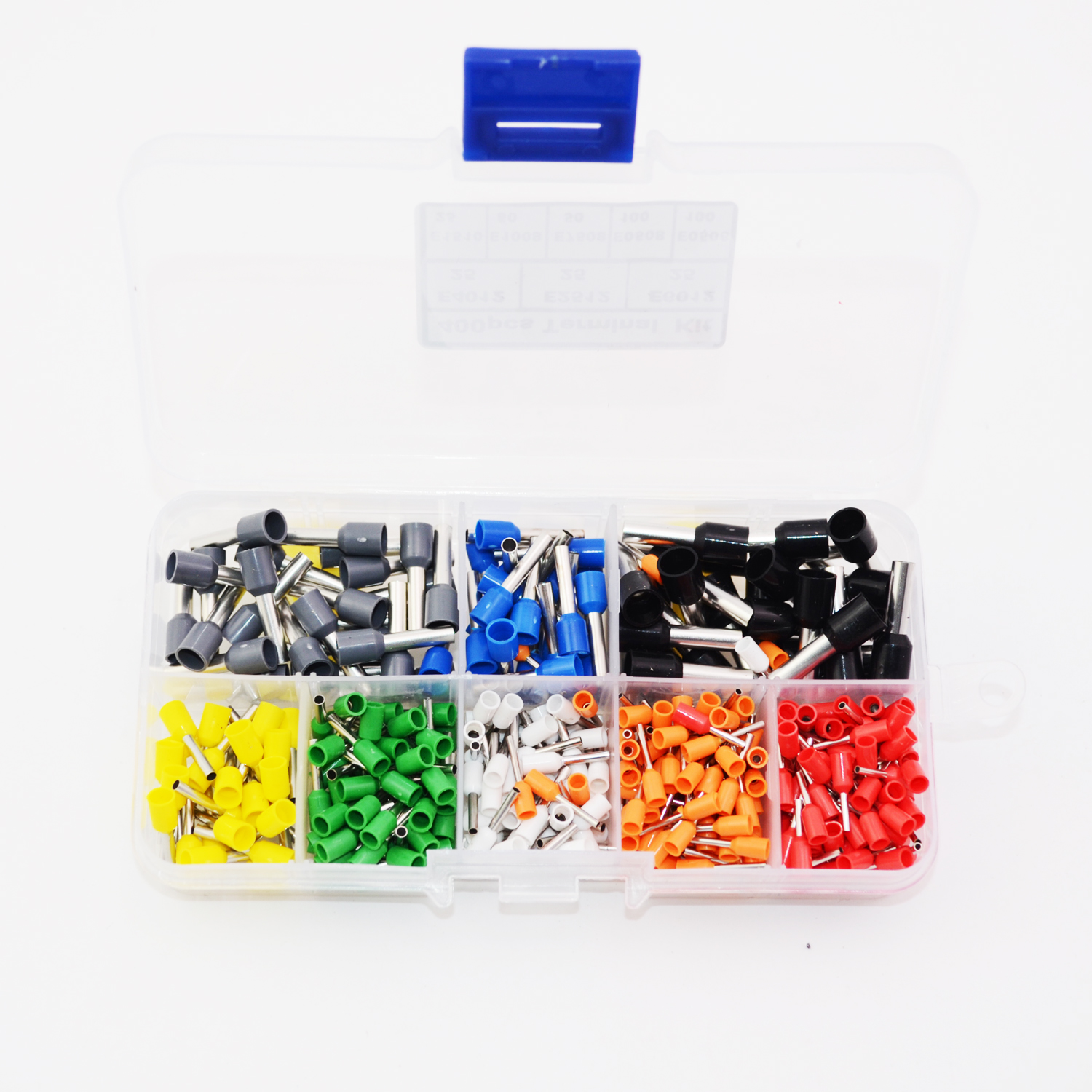 Hot sale 400pcs/set Insulated Cord Pin End Terminal Ferrules Kit Set Wire Copper Crimp Connector AWG 22 - 10 190pcs lot 6 different crimp terminal ring connector kit set wire copper crimp connector insulated cord pin end terminal