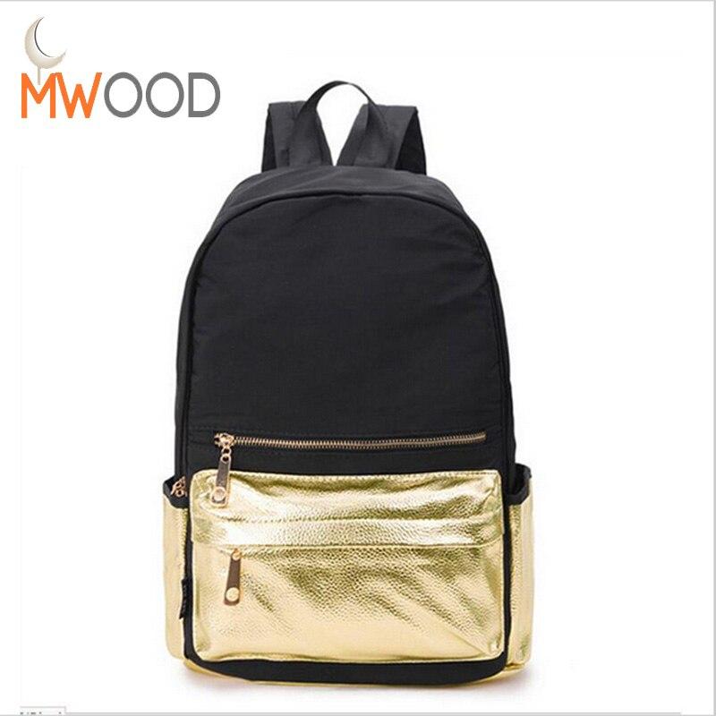 Moon Wood High Quality Nylon Waterproof Women Backpack Fashion School Backpacks For Girls Casual Travel Rucksack mochila N56 how high the moon