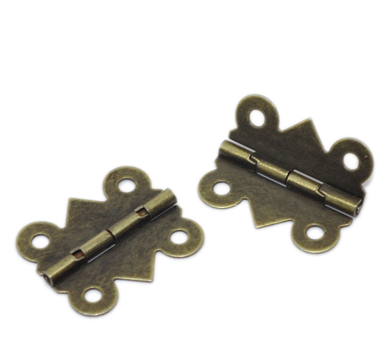 Door Butt Hinges 4 Holes(rotated From 90 To 210 Degrees)Antique Bronze 20x 24mm,50PCs,Wide Rotated Size:19-20mm 2016 New