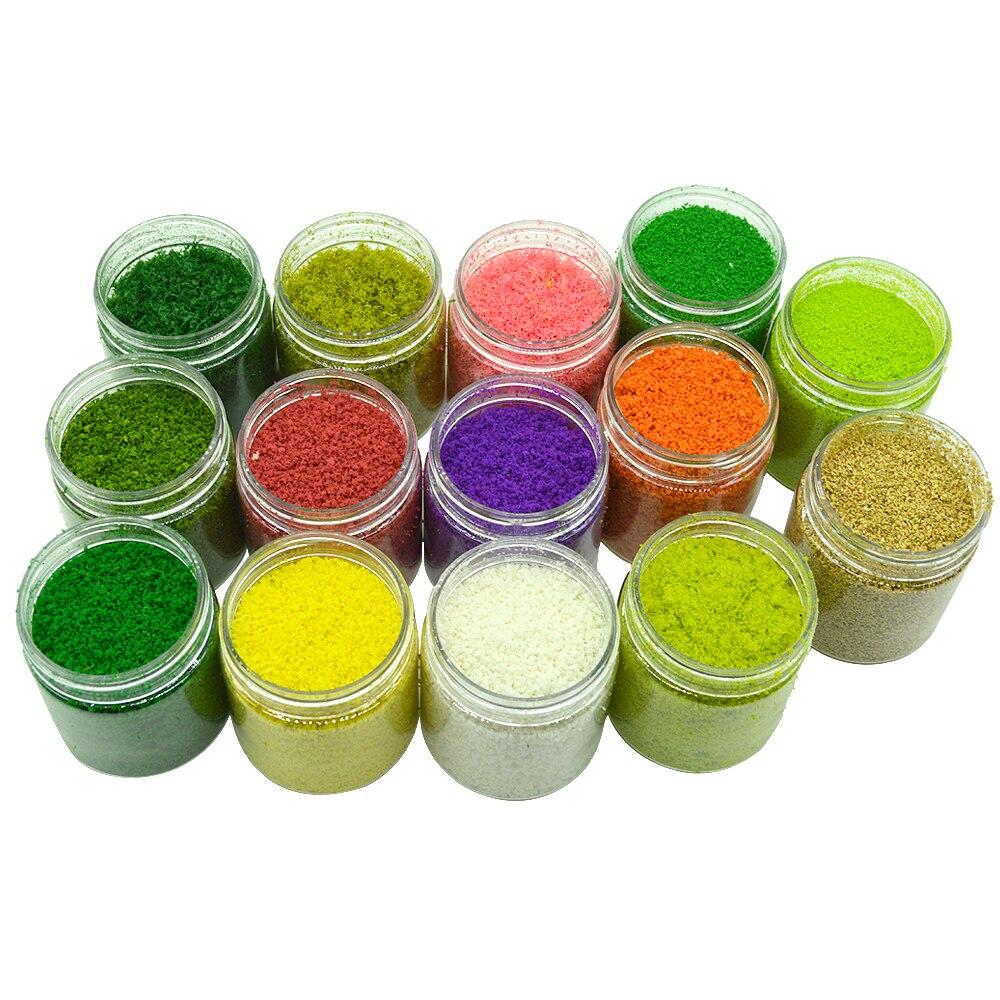 Micro Simulation Toy Landscape Model Multy Color Grass Powder Sponge Building Plush Turf Hobbies Sand Table Layout Diorama DIY
