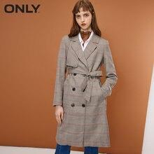 Только женское двубортное пальто с лацканами средней длины с вышивкой   118336574