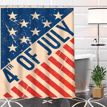 Hot New Eco-friendly Custom Unique American flag Modern Shower Curtain bathroom Waterproof for yourself H0220-92
