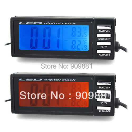 Well-Educated Parasolant Auto Accessories Led Car Electronic Clock Cemperature Alarm Clocks Digital Clock Car Modeling For The Car Home