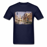 Low Price 100% Cotton Mens Shirt New Coming Male Daleks In Venice Pre-Cotton Awesome Top Tee Men