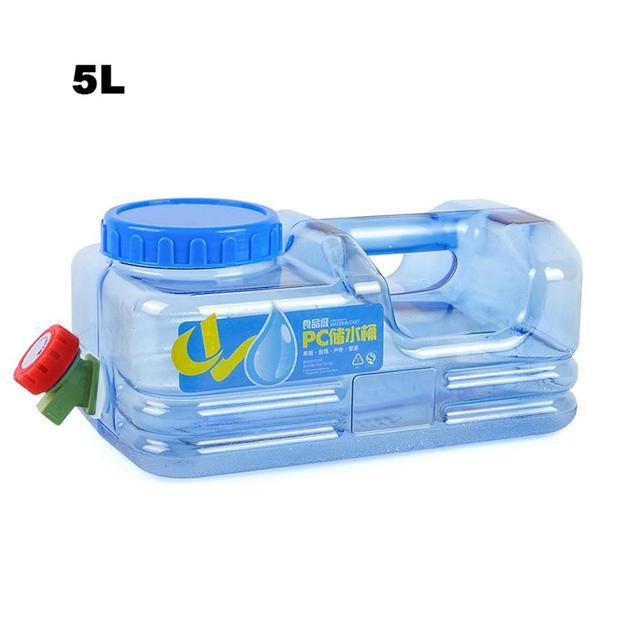 5L Car bucket PC BPA Free Reusable Plastic Water Bottle Gallon Replacement Water Bottle Snap On Cap Anti Splash Jug Container