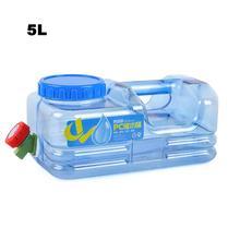5l 자동차 양동이 pc bpa 무료 재사용 가능한 플라스틱 물병 갤런 교체 물병 스냅 캡 안티 스플래시 주전자 컨테이너