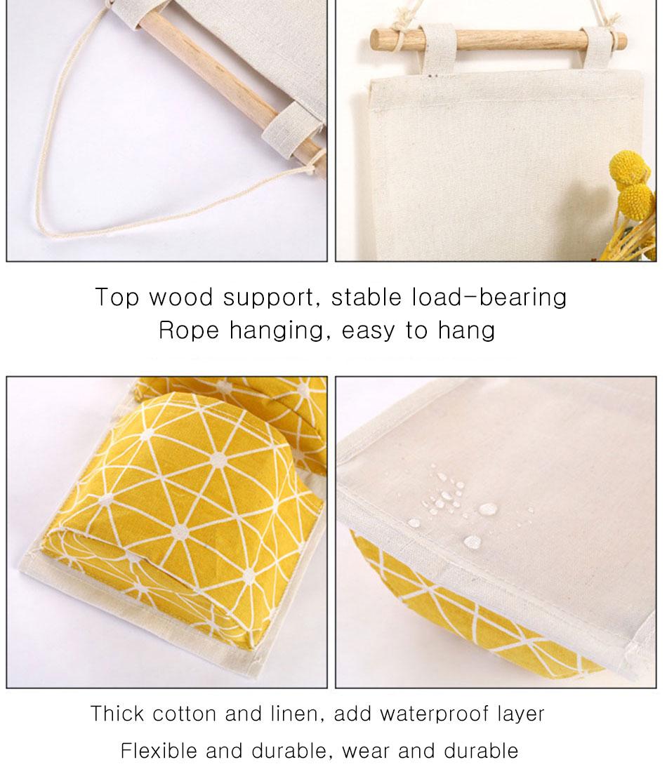 Cute Wall Sundry Cotton Line Hanging Organizer Bag Multi-layer Holder Makeup Rack Jewelry Storage Box Basket Home Decoration (10)