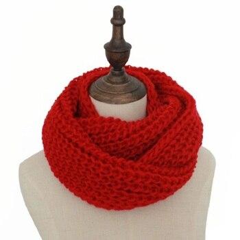 897ffb40 Venta caliente invierno Cable anillo bufanda mujeres tejer infinito  bufandas de punto caliente del círculo del cuello de la bufanda bufandas  cuellos