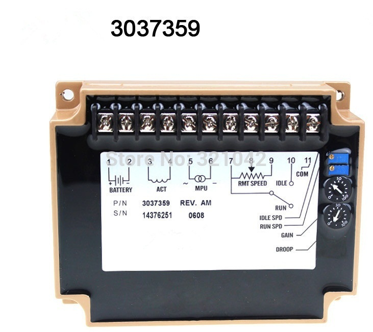 3037359 Generator accessories speed controller governor speed control board fortrust speed controller generator accessories fortrust speed controller c1000a governor speed control board