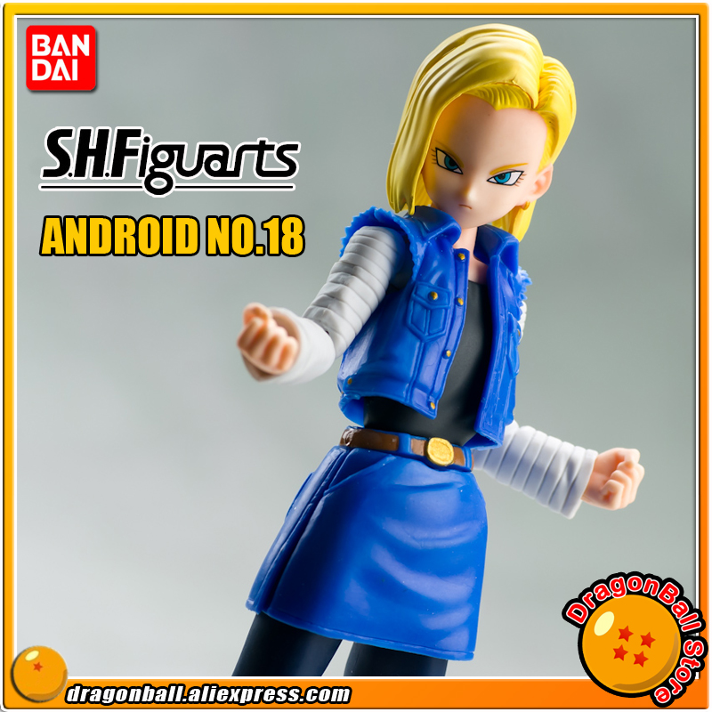 DRAGONBALL Dragon Ball Z Original BANDAI Tamashii Nations S.H.Figuarts SHF Exclusive Action Figure Toy - Android NO.18DRAGONBALL Dragon Ball Z Original BANDAI Tamashii Nations S.H.Figuarts SHF Exclusive Action Figure Toy - Android NO.18