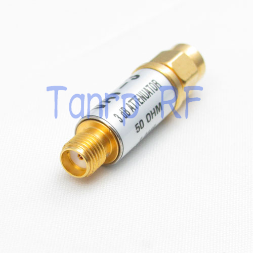 SMA male plug to SMA female jack RF Attenuator Adapter connector 3dB 50ohm VAT-3 DC - 6.0GHz 1pc adapter n plug male nickel plating to sma female gold plating jack rf connector straight