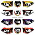 Custom Number Plate Backgrounds Graphics Sticker & Decals For SUZUKI RMZ250 RMZ 250 2007 2008 2009