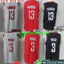 beebadcae68 Signature Free shipping A+++ quality Mens Adult  13 James Harden 3 Chris  Paul signed 7 Carmelo Anthony Jersey Houston