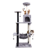 France Fat Delivery Cat Scratching Wood Climbing Tree Cat Jumping Toy with Ladder Climbing Frame Cat Furniture Scratching Post