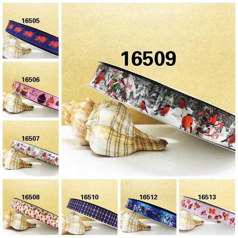 Бесплатная доставка 2017 новое поступление ленты аксессуары для волос 10 ярдов печатные корсажные ленты 16509