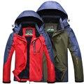 4XL 5XL Зимняя Куртка Женщины/Мужчины С Капюшоном Случайные Водонепроницаемый Ветрозащитный Куртки Марка Спортивная Мужчины Ветровка Куртка Мужчины CF021