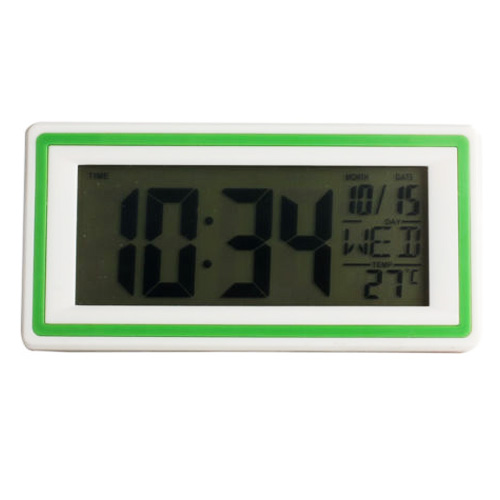 Smart Digital LED Alarm Clock with Thermometer Calendar Snooze New Green