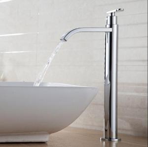 Image 2 - Tuqiu洗面器の蛇口単一のコールド浴室の蛇口洗面器ミキサー浴室のシンクの蛇口トールクローム真鍮の蛇口冷水