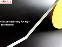 50meters Roll 5mm 80mm Choose Double Sided Adhesive White PVC Tape Widely For Automobile Vehicle Mirror