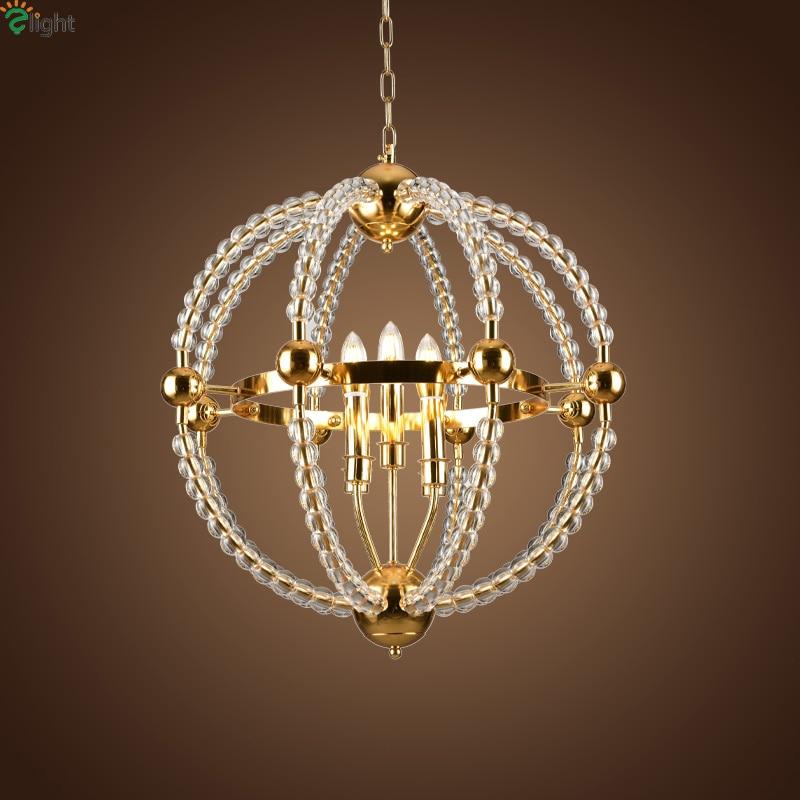 Led Pendant Lights Re Crystal Beads