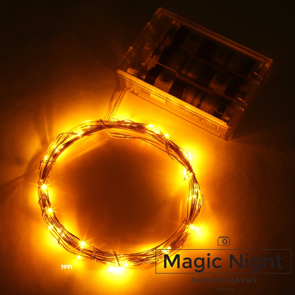 Us 1 99 Magicnight 10ft 30 Yellow Mini Micro Led Starry Lights Submersible Fairy Copper Strings Aa Battery Ed In Holiday