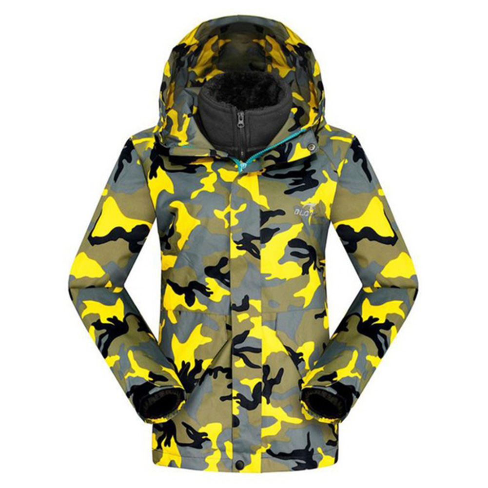 Camouflage Giubbotti gray E Con Caldo Cappuccio Sportwear army yellow Inverno Giacca Traspirante Alpinismo In rose Unisex Antivento Red Orange Tenere Green Autunno pink Impermeabile nAqwfYtxA