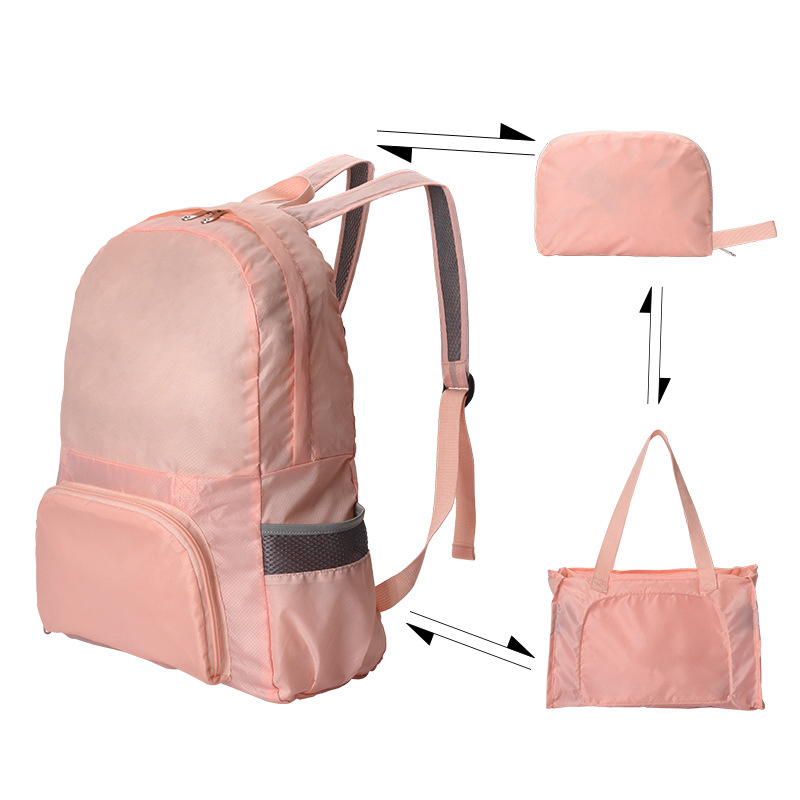 Fashion Function Folding Backpack Bags Portable Storage Package Parts Suitcase Cleaning Pouch Unisex Holder Travel Accessories