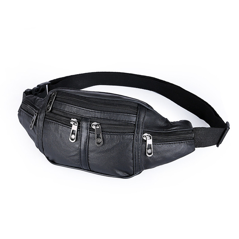 High Quality Ride Travel Sheepskin Waist Bag Bananka Travel Leisure Fanny Pack Men And Women Walking Mountaineering Belly Band quality leopard stitching velvet sheepskin chain waist bag bananka travel leisure fanny pack women walking belly band belt bag