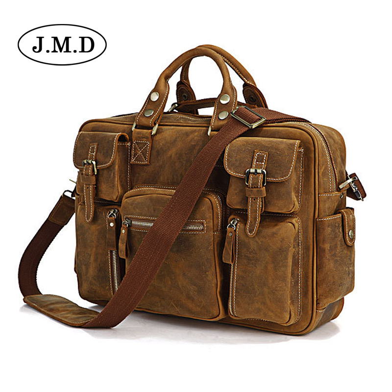 J.M.D Genuine Leather Men Bag travel bag male bolsos Men's Handbags Business Laptop Shoulder Bags Briefcase Messenger tote bag j m d genuine leather men bag travel bag male bolsos men s handbags business laptop shoulder bags briefcase messenger tote bag