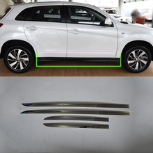 Car Accessoris Stainless Steel side door moulding cover 4pcs Styling accessories For Mitsubishi 2013 ASX