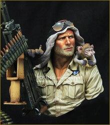 1:10 Resina BUST modelo figura Retratos dos Britânicos Artilheiro X72
