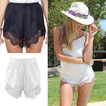 Solid High Waisted Lace Tassel Tribal Summer Beach Casual Hot  Shorts