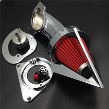 Kawasaki Vulcan 800 Classic 1995-2012 CHROME Cone Spike Air Cleaner filter