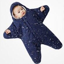 Конверт в форме звезды для новорожденных, детский спальный мешок в коляску, пеленки, кокон для детей, зимний мешок для коляски