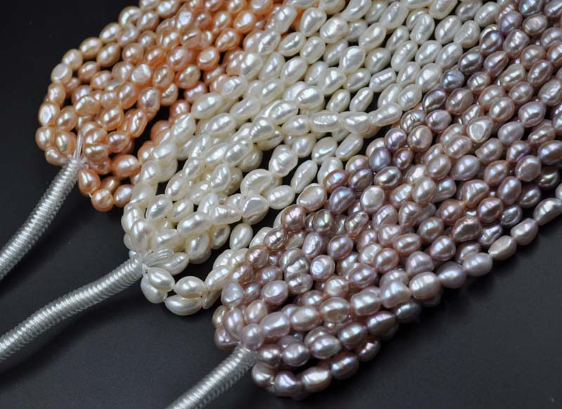 Hot selling>@@ Baroque lots 8 strands 6*7mm genuine Cultured freshwater pearl Bride jewelry free shipping
