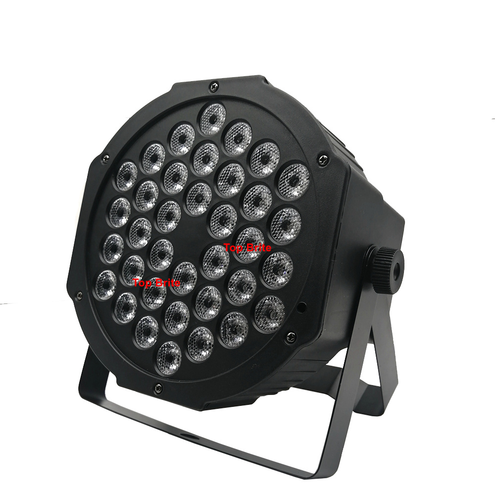 2XLot LED 36X3W RGB Colors LED Flat Par Lights Dj Wash Light Stage Uplighting KTV Disco Par Lights  DMX512 Disco Lights Par LED