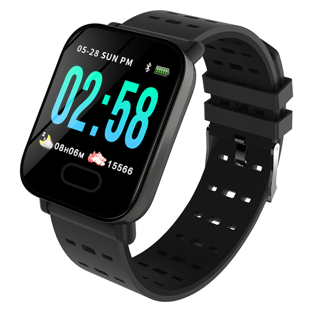 A6 Smartwatch IP67 Waterproof Wearable Device Bluetooth Pedometer Heart Rate Monitor Color Display Smart Watch For Android/IOS