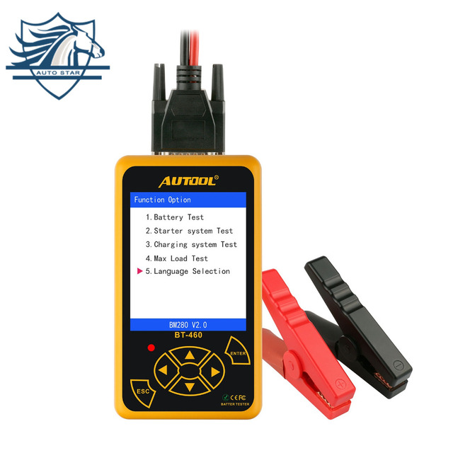 AUTOOL BT-460 Battery Tester Lead-acid AGM GEL Battery Cell Analyzer for 12V...