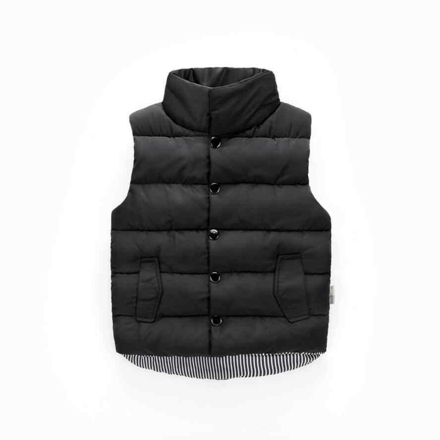 Sonbahar kış kız rahat yelek ceket çocuk giyim mont kızlar için yelek bebek bebek aşağı yelek kolsuz çocuklar sıcak ceket