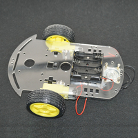 High Tech DIY Robot Kit Line tracing car chassis car Kit with speed encoder battey holder for Arduino