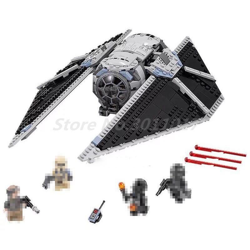 LEPIN 05048 Building Blocks Model Compatible with Star Wars Figures The TIE Striker 75154 Educational Toys For Children Gifts new lepin 16009 1151pcs queen anne s revenge pirates of the caribbean building blocks set compatible legoed with 4195 children