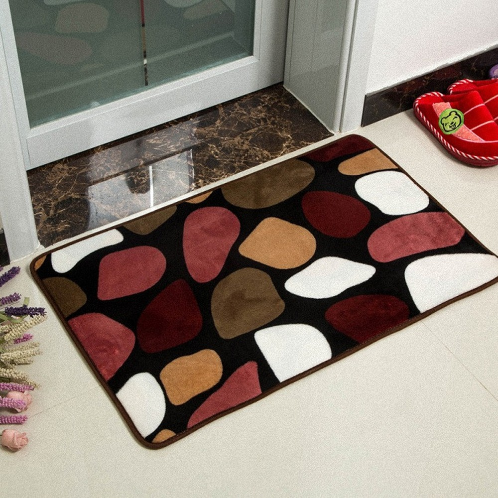 Velvet Soft Rugs In Natural Beige: 1PCS Shower Pad Mat Rug Bathroom Mats Set Coral Velvet