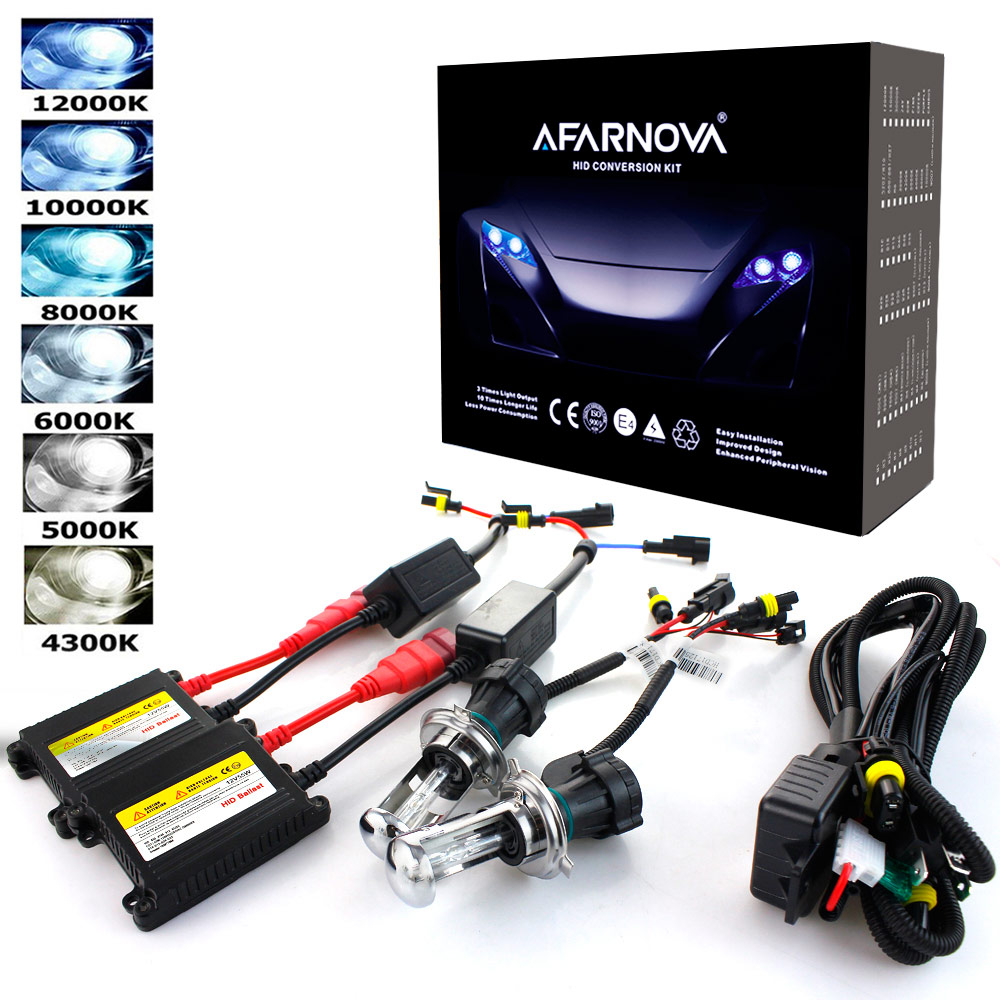 AC 55W Hid Kit Xenon H7 6000K 55W 8000K HID H7 Xenon Hid Kit H1  Xenon H7 4300K 10000K 12000K Hid Headlight Bulbs Conversion Kit