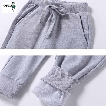Solid Color Elastic Waist Soft Baby Pants 6