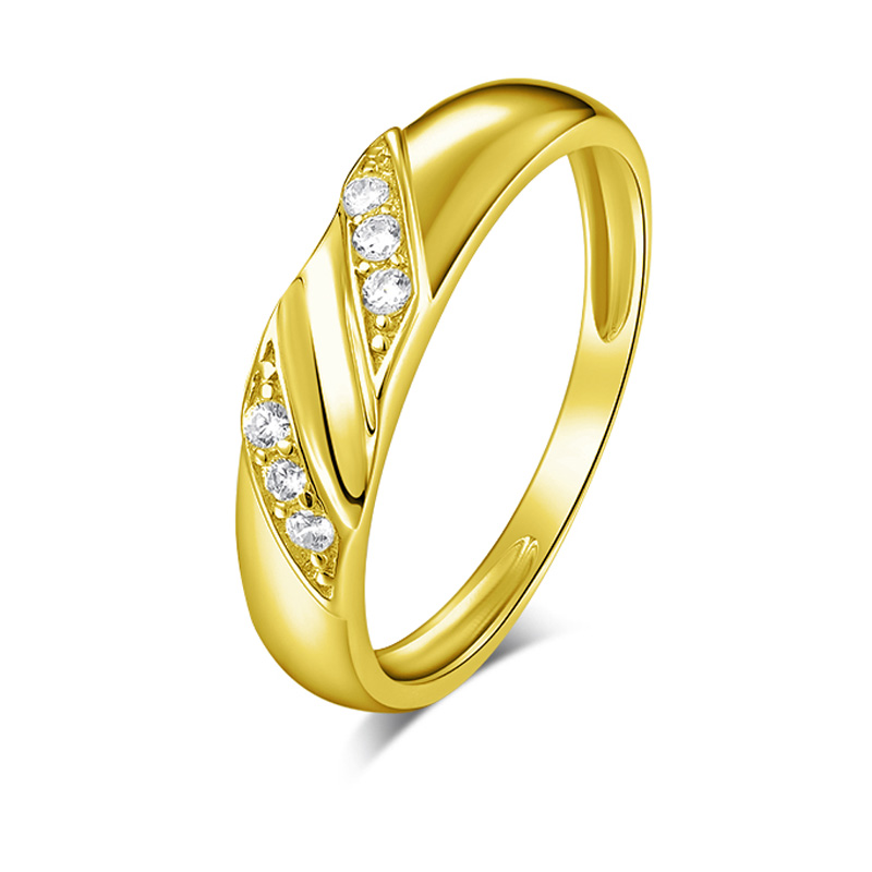AINUOSHI Real Gold TRIO Rings Set 14K Yellow Gold Round SONA Diamond Engagement Bridal Rings Male Band Couple Wedding Rings Set