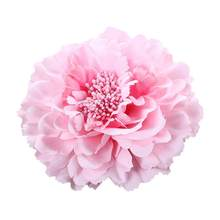 Hot Sale Beautiful Hair Clip Flower Peony New Hair Clips Wedding Bridal Bridesmaid Prom Festival Beige Pink Hairpin Brooch(China)